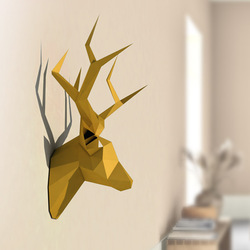 3D Pear David's Deer Head Animal Paper Model Toy Home Decor Living Room Decor DIY Paper Craft Model Party Gift