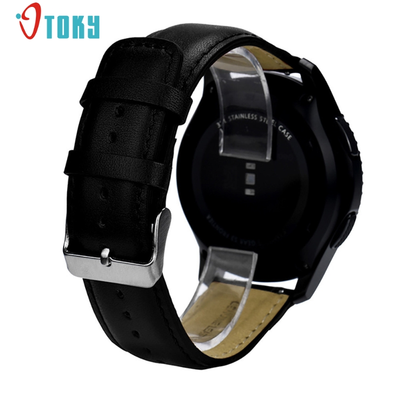 New Arrive 2018 Replacement Leather Watch Bracelet Strap Band For Samsung Gear S3 Frontier смарт часы samsung gear s2 black
