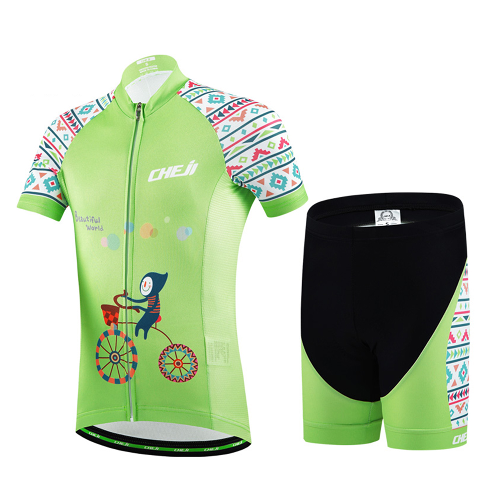 2017 Children Bicycle Jersey Kids Cycling Clothing Set Short Sleeve MTB Bike Ropa for Boys and Girls Cosy Summer Cool Breathable keyiyuan children cycling clothing set ropa ciclismo bicycle kids summer bike short sleeve jersey shorts sets blue