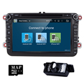 8 Дюймов 1024*600 2 Din Android 5.1 VW Автомобильный DVD-Audio Плеер GPS Для GOLF 6 Поло Бора JETTA PASSAT B6 Tiguan SKODA OCTAVIA 3 Г
