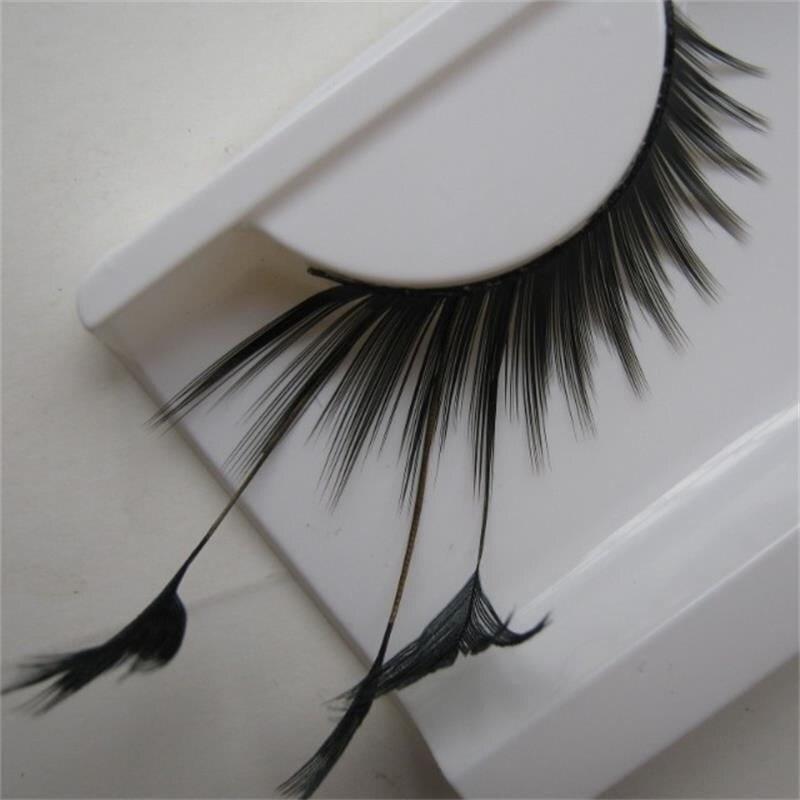 1 Pairs Black Thick Natural False Eyelashes Cross Winged Lengthened Exaggerated Stage False Eye Lashes Makeup Tool  YM82