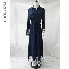 b60bdcc4d65 Musulman 2019 marque de mode robe Abaya Vintage caftan robe Maxi robes doux  longues décontracté grande taille Abaya tricot   D22.