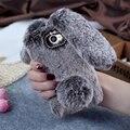 Capa do telefone para huawei y5 2 y5 ii 5.0 polegada tpu tampa traseira adorável coelho capa 3d bonito coelho quente fur case para huawei y5 ii Shell