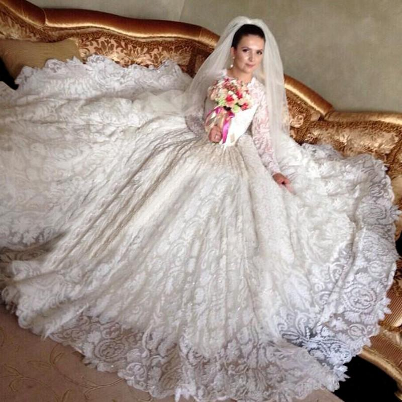 Wedding Dresses 2018 Couture Ball Gowns Elegant Royal: New Famous Designer 2016 Scoop Fall Wedding Dresses Long