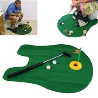 Potty Putter Wc Golf Jogo Mini Golf Set Wc Mini Jogo de golfe Mat Brinquedo Presente Da Novidade Da Mordaça Engraçado brinquedos Nova chegada