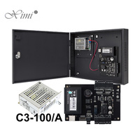 ZK C3 100 Single door TCP/IP Access Control Panel Access Controller System With Power Supply Box 1 Door Access Control Board