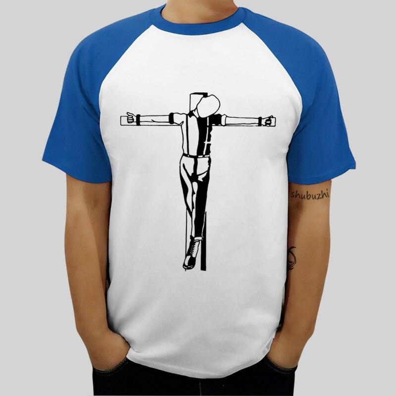 Latest Poster Print men raglan tshirt Crucified Skinheads Trojan Trousers Printed Summer Style Harajuku man t shirt short sleeve