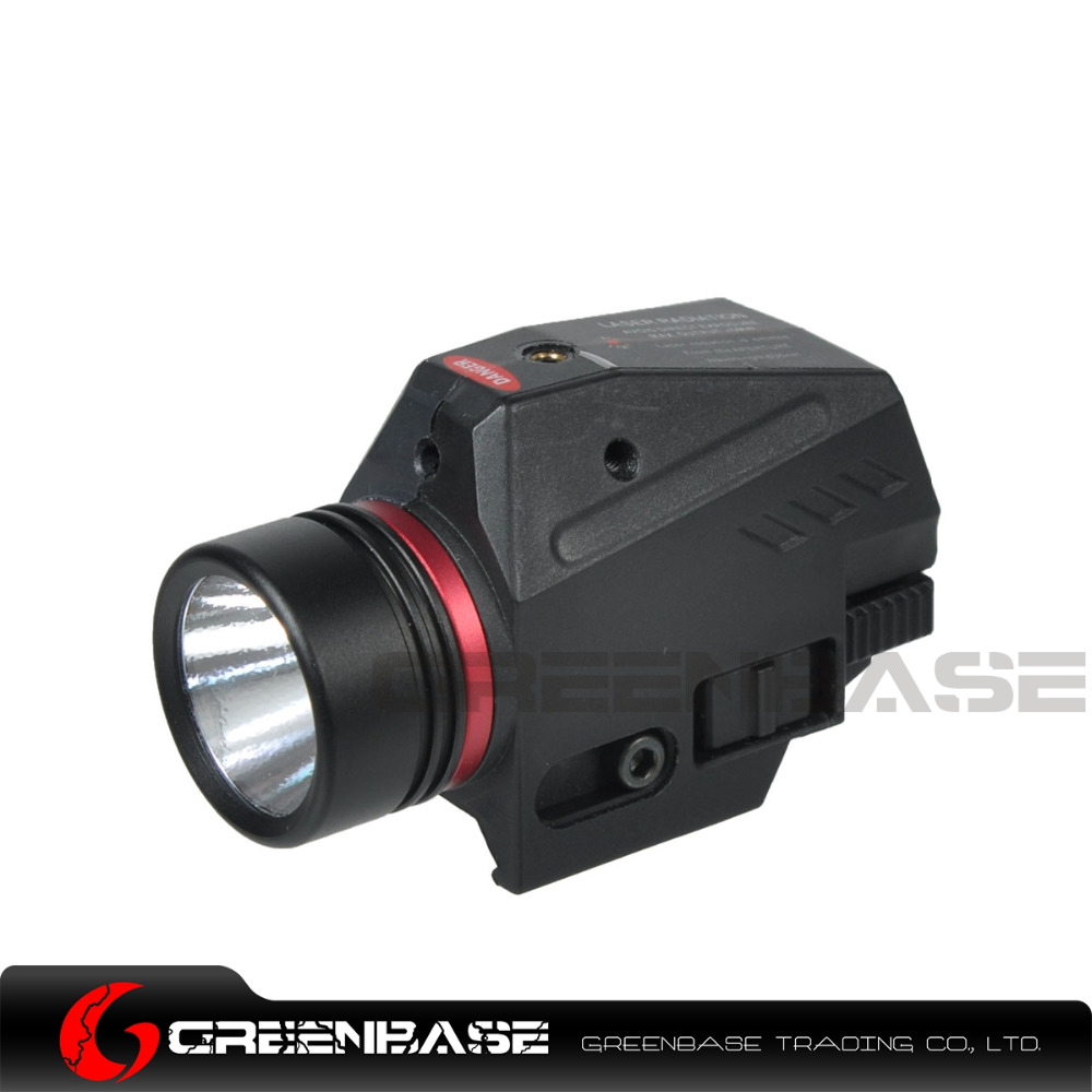 Greenbase Compact Tactical Red Laser Sight and LED 200 Lumens White Light Red Laser Flashlight For Pistol Airsoft Gun