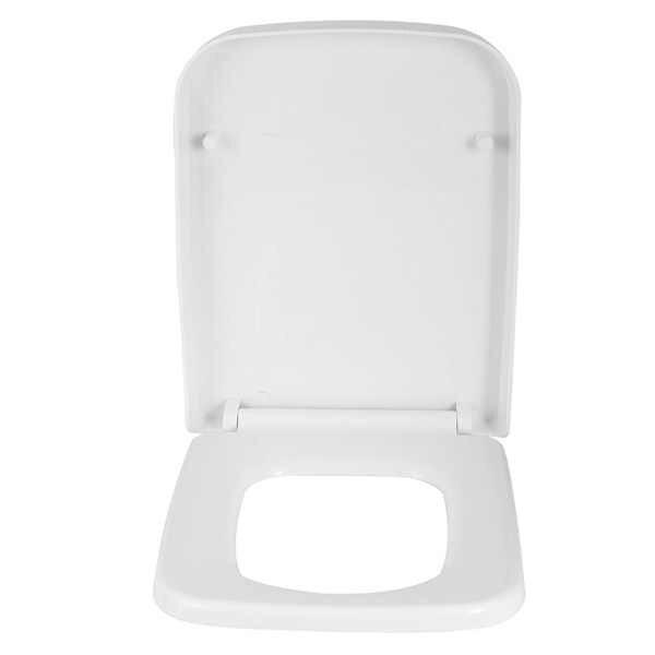 Excellent White Square Toilet Seat Soft Close Quick Release Wrapover Inzonedesignstudio Interior Chair Design Inzonedesignstudiocom
