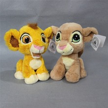 Original Cartoon The Lion King plush soft toys Sitting height 23cm 9'' Simba and Nala Plush toy for baby gift