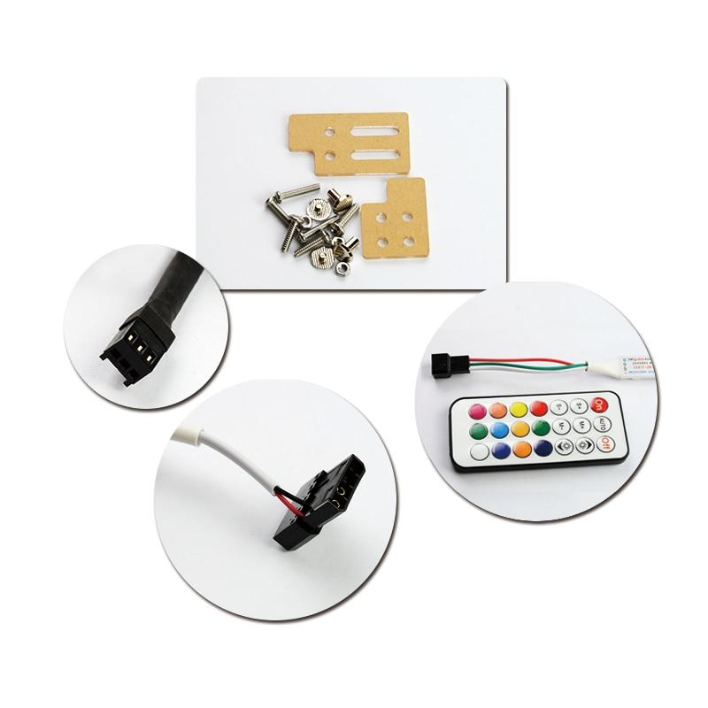 Купить с кэшбэком 5V 3PIN Header RGB Light / Metal Acrylic Bracket use for Brace GPU card Size 280*45*6mm / Fix Video Card Compatible AURA SYNC