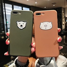 For iPhone X XR XS Max Cases Cute Pig Cute Bear Soft TPU Silicone Shell For iPhone 6 6S 7 8 Plus Cover Phone Cases Capa Coque цена и фото