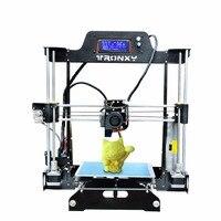 Tronxy New Full metal frame 3D Printer DIY Kit high precision printing LCD control 8GB SD MK8 nozzle MK3 Large bed size