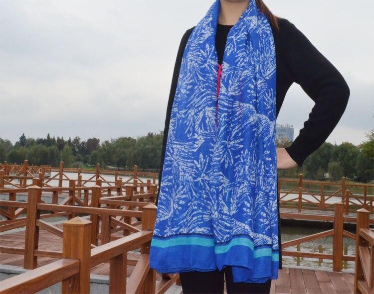 ჱDames foulards 2015, De l inde, Floral usine écharpe, Bohême style ... 2775e496f98