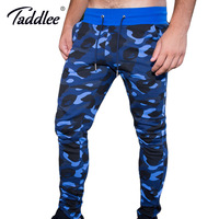 Taddlee Brand Jogger Pants Men's Slim Fit Basic Flat Front Camouflage Ankle Trousers Skinny Bottoms Sweatpants New