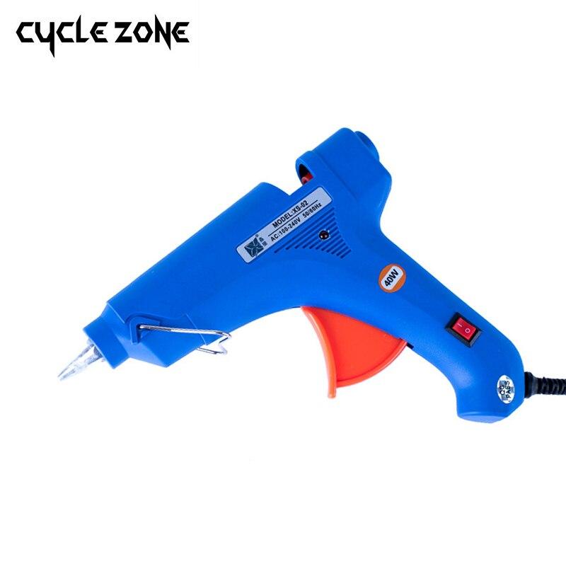 20 Вт ЕС США вилку термоклей Пистолеты для склеивания с 60 шт. 7 мм Клей-карандаш промышленных мини Пистолеты термо-электрический тепла температура инструмент