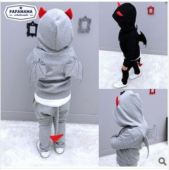 Children clothing set 2015 New kids clothes sets baby girl boy wing novelty style hoodies sweater
