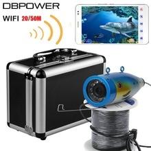 Nueva 20 M/50 M WIFI Wireless Cámara Pesca Submarina 1000TVL 2.4G Video Recorder Visión Nocturna Buscador de Los Pescados con 12 unids LED