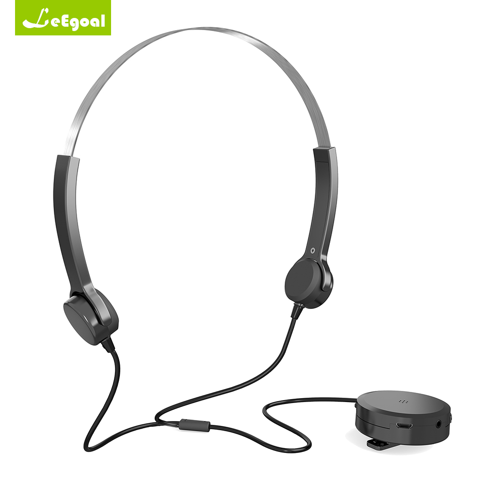 Bone Conduction Headphones Hearing Aid Headsets Amplifier Audiphone Deaf Aid Bone Conduction Earphones for Hearing Difficulties цена