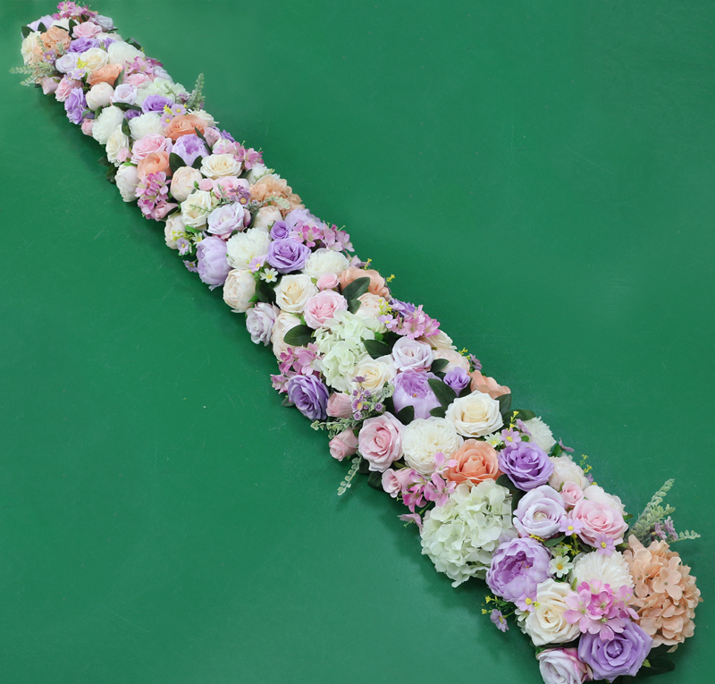 JAROWN Artificial 2M Rose Flower Row Wedding DIY Arched Door Decor Flores Silk Peony Road Cited Fake Flowers Home Party Decoration Maison (11)