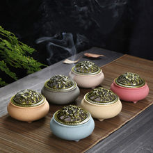 Purple Sand incense Burners antique Purple clay with sandalwood Incense Burnner Buddha with small incense spot buddhist(China)