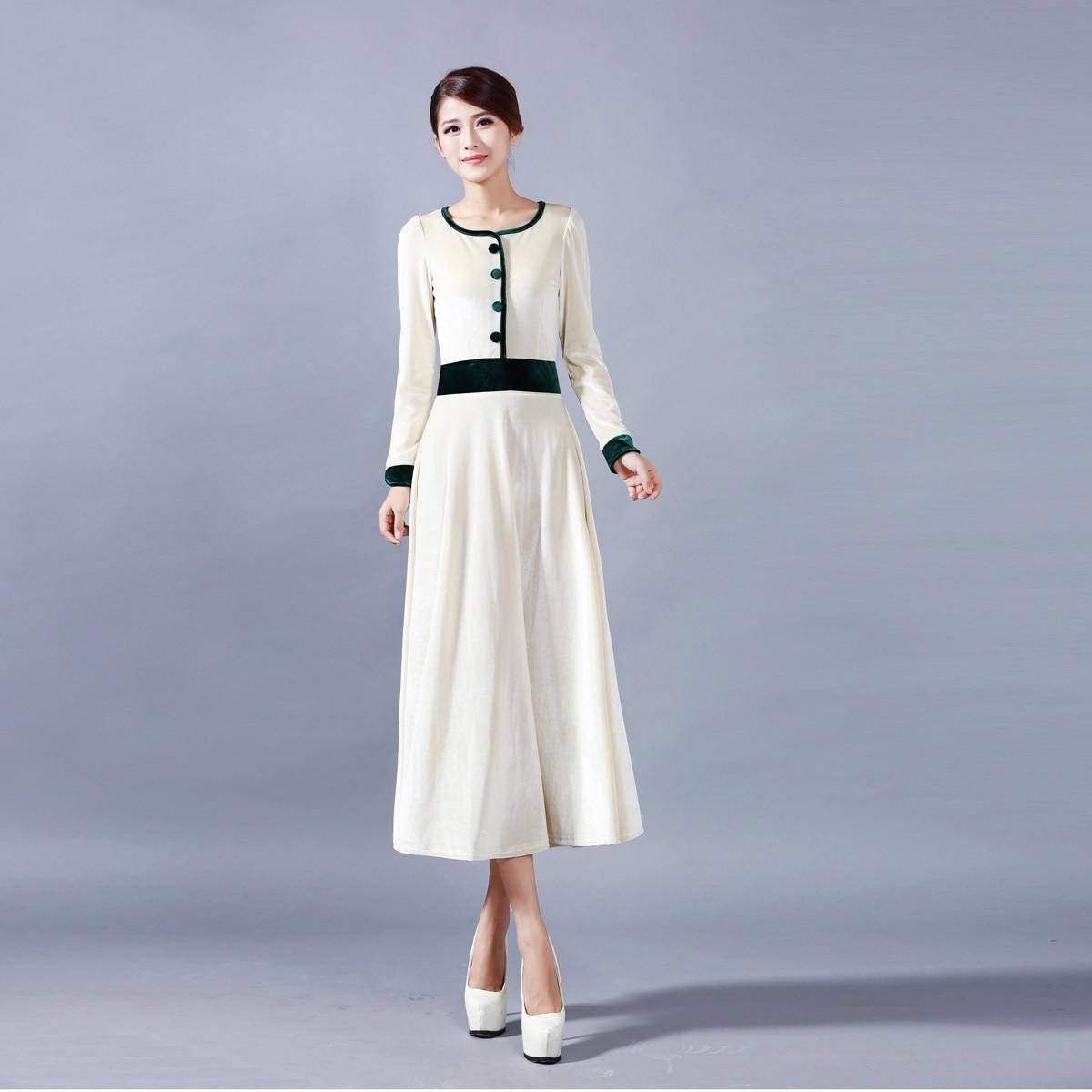 2018 Femmes Plus La Taille Des Vêtements 5XL 4XL Hiver Élégant Parti Robes  de velours Longue Patchwork Mince Taille Vin Rouge Vert ... f90fa5fcb8bd