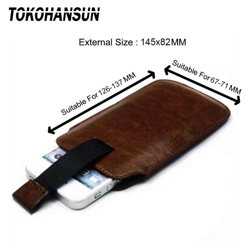 TOKOHANSUN coque de téléphone universelle pour Philips Xenium E570 W3568 E571 S257 PU housse de sac en cuir