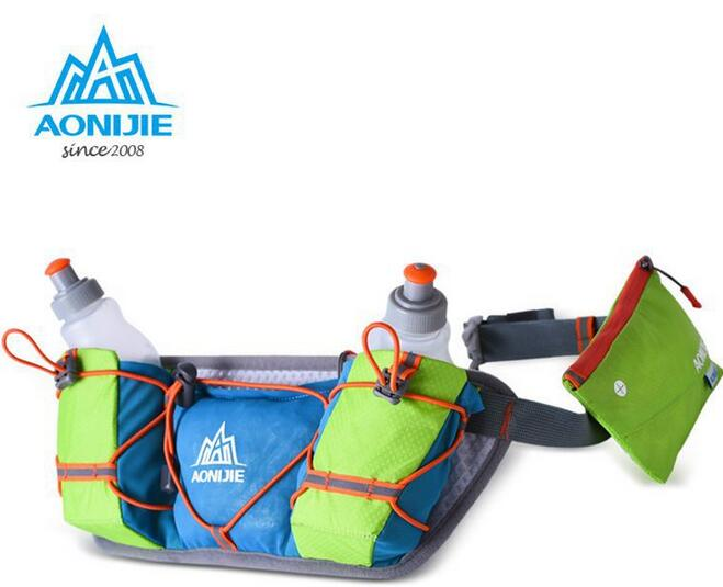 AONIJIE Men Women Waist Packs Running Hydration Belts Bottle Holder Belt Reflective Running Water Belt Fanny
