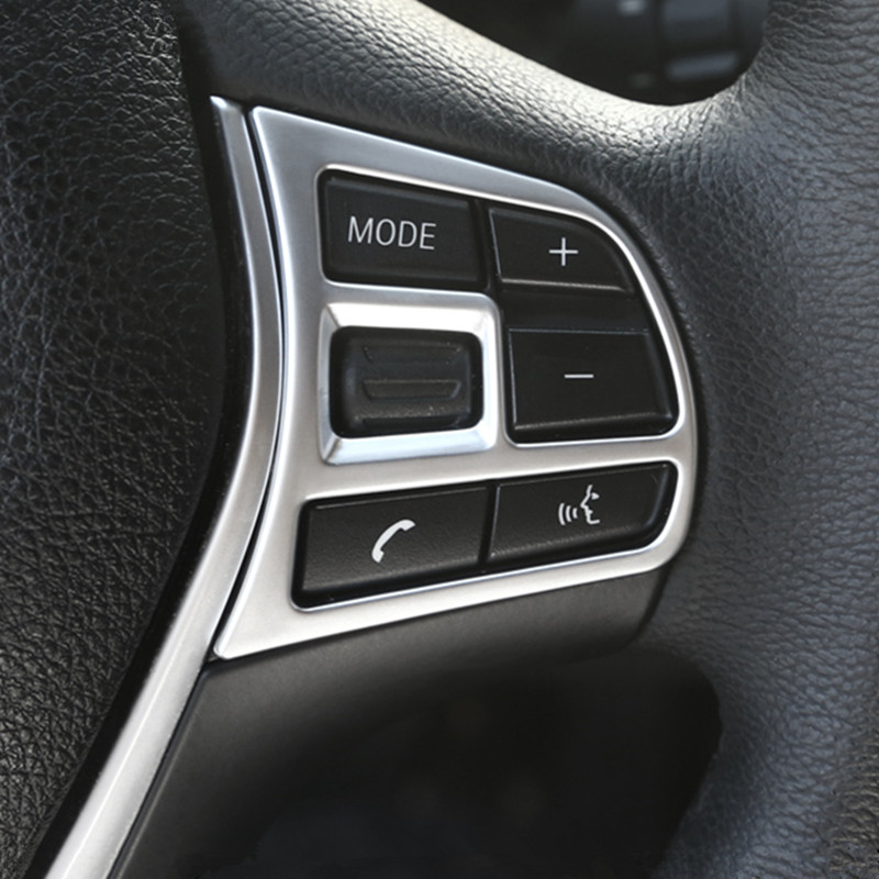 Car Styling Steering Wheel Button Decorative Frame Cover Trim Stickers For <font><b>BMW</b></font> 3/4 Series <font><b>GT</b></font> F30 f32 <font><b>f34</b></font> Interior Accessories image