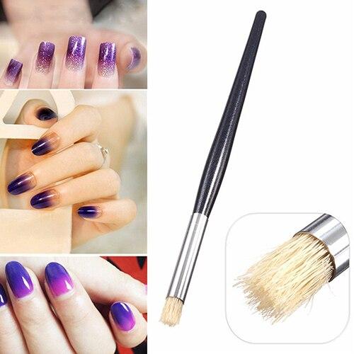 Nail Art UV Gel Acrylic Painting Drawing Pen Polish Transition Brush Tips Tool BM86
