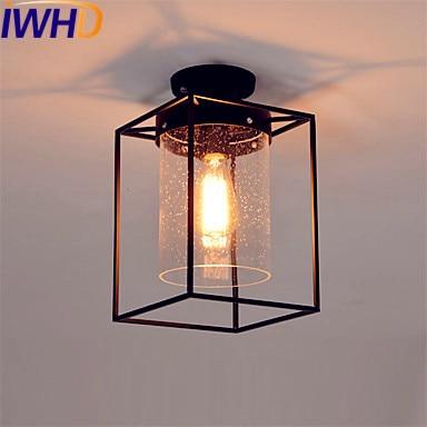 Leuchten Für Flur iwhd glas led edison deckenleuchten leuchten flur plafonnier