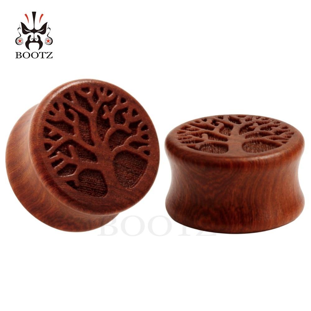 вруће продати животињско дрво дрво уши за пробијање тунела накит каросерија дрво ухо мјерачи продају у пару од 10 мм до 25 мм