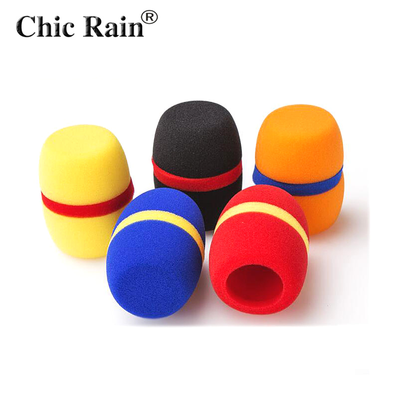 uxcell 5PCS Thicken Ball-Type Sponge Foam Mic Cover Handheld Microphone Windscreen Shield Protection Red for KTV Broadcasting