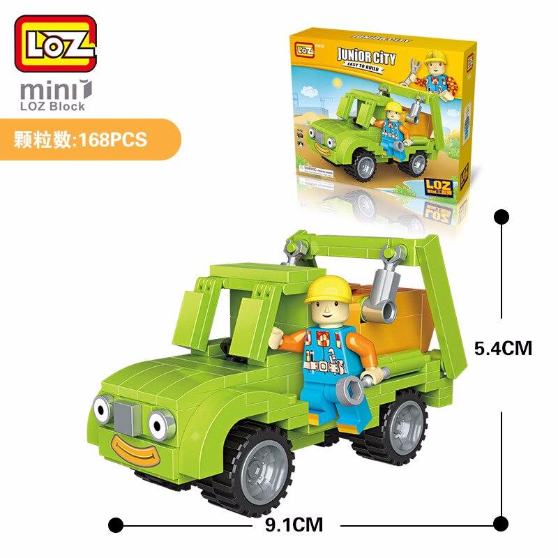 LOZ Blocs Rc Benne Camion Jouet Mini Voitures Modele Dingenierie Vehicule Classique En Plastique Assemblage Des Blocs de