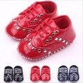 Nueva Moda de Cuero PU Zapatos de Prewalker Del Bebé Infant Toddler Unisex Primavera/Otoño Mocasines Bebé Recién Nacido Primeros Caminante Calzado