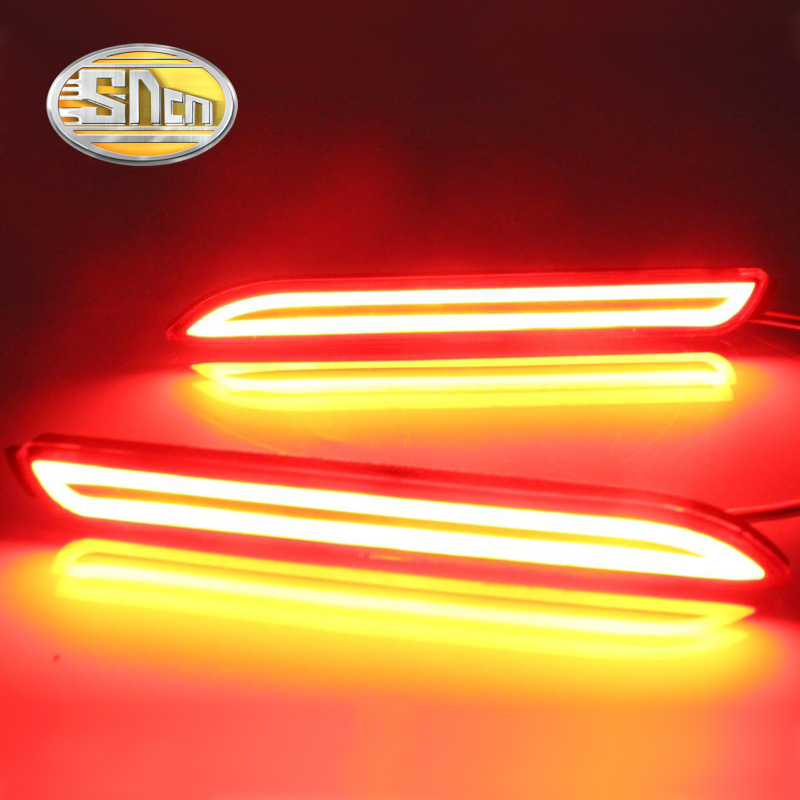 For Toyota Mark X 2011 2012 2013 2014 SNCN Multi-functions Car Tail Light LED Rear Fog Lamp Bumper Light Brake Light Reflector new for toyota altis corolla 2014 led rear bumper light brake light reflector novel design top quality fast shipping