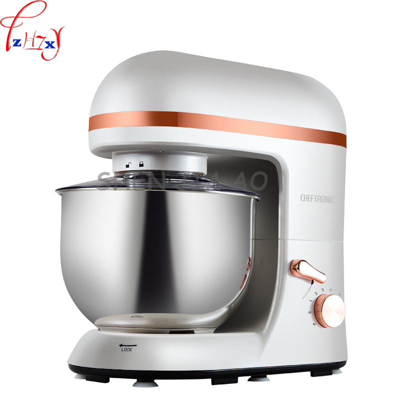 Dough kneading machine SM-966 Commercial mixing machine Multi-functional food mixer Electric stainless steel Egg beater 5L 220V