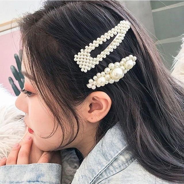Full pearls Hair Clips for Women Fashion Sweet Imitation Korean Style Hair Pins Alloy BB Hairgrip Girls Lady Hair Accessories