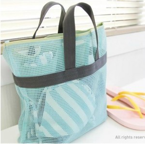 Min Order $20 Mix Order  Portable Travel Storage Bag Mesh Wash Bags  - 2 Colors To Choose