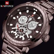 Naviforce 남자 시계 2019 최고 럭셔리 브랜드 새로운 패션 품질 스테인레스 스틸 군사 스포츠 남자 시계 방수 손목 시계