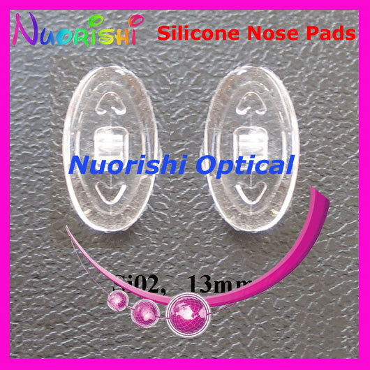 Si02 Eyeglass Eyewear Glasses Accessories Oval Silicone Nose Pads 12mm 13mm 14mm 15mm 17mm Free Shipping