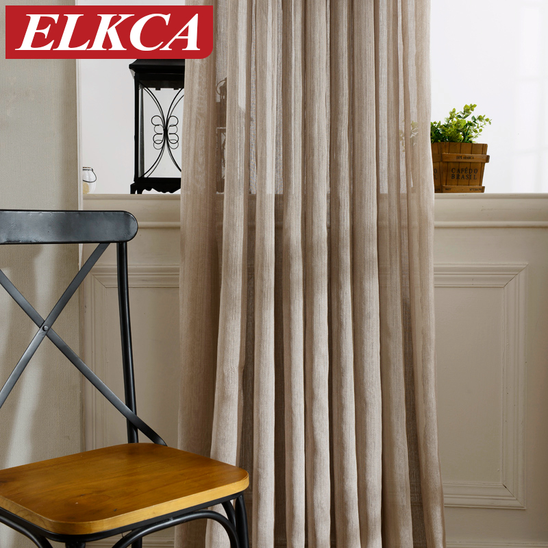 Hot Sale Japan Solid Tulle Curtains For Living Room Window