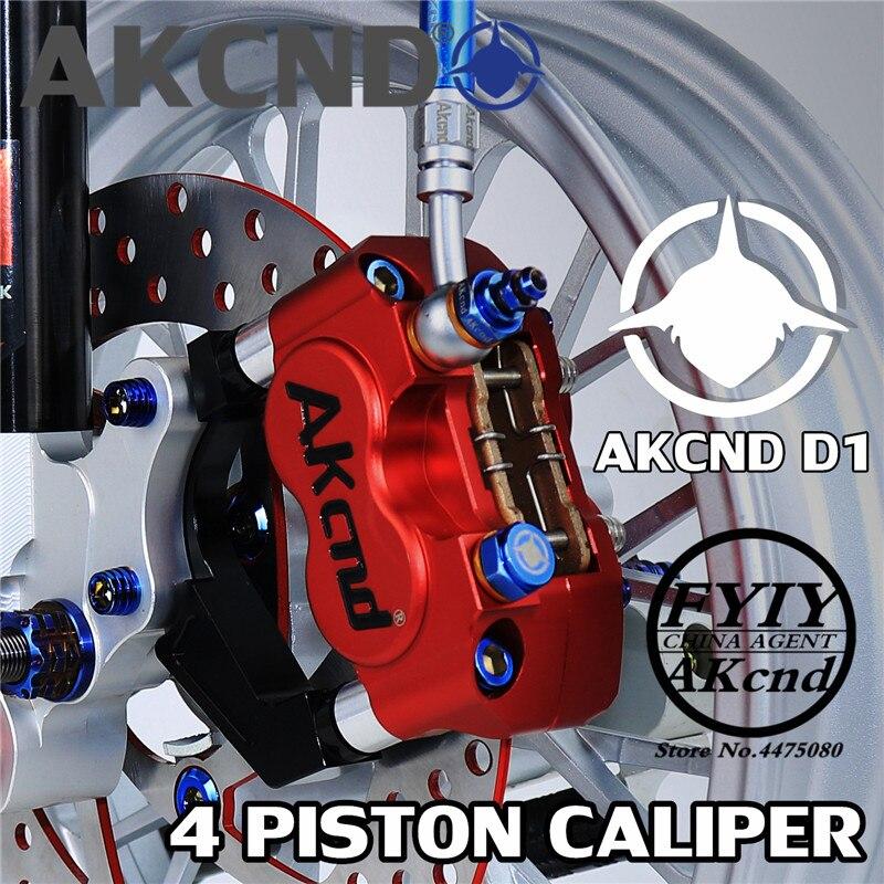 AKCND Motorbike Brake Caliper Motorcycle cylinder hydraulic pump calipers racing street For Yamaha Handa WISP RSZ Brake calipers