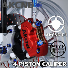 AKCND Motorbike Brake Caliper Motorcycle cylinder hydraulic pump calipers racing street For Yamaha Handa WISP RSZ