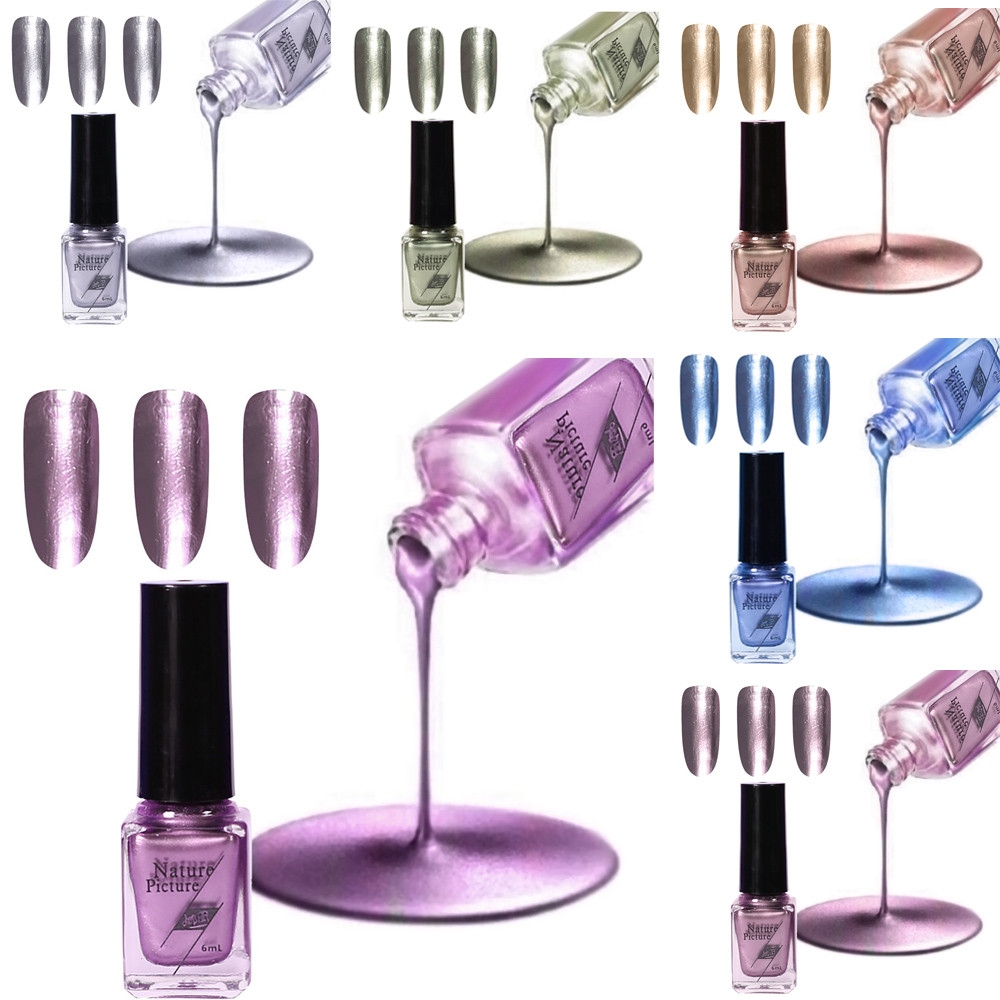 2019 Fashion Hot New Mirror Nail Polish Electroplating Silver Paste Metal Color Stainless Steel Lakiery Hybrydowe 50* Good For Energy And The Spleen Beauty & Health