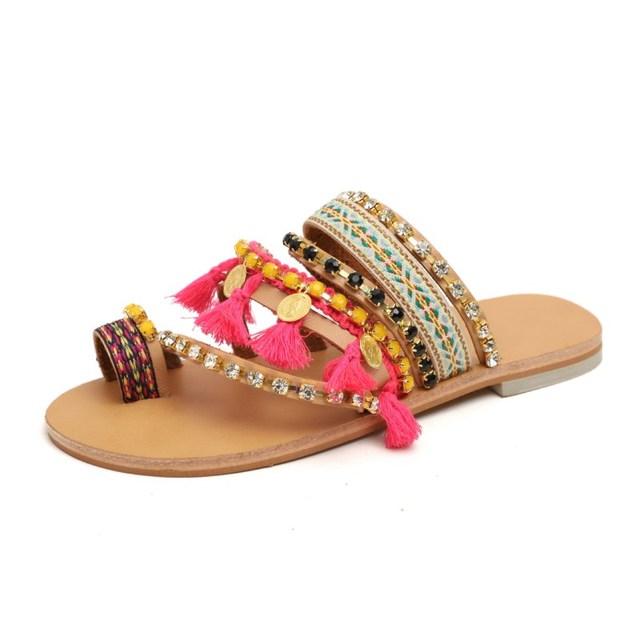 Boho Style Handmade Tassel Sandals