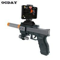 OCDAY Porable 3D Bluetooth AR-Silah Oyunları Oyuncak Tabanca VR Oyunu Android iPhone Telefonları için Gun Oyuncak Kapalı Açık Oyuncaklar Için çocuk