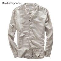 New Brand Clothing Fashion Men Shirt White Linen Shirts Men Slim Fit Dress Shirt Mens Chemise
