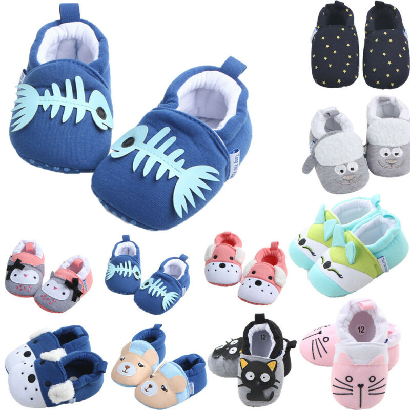 Emmababy Cute Baby Shoes Newborn Toddler Baby Boy Girl Crib Shoes Cartoon Animal Soft Sole Non-slip Infant Baby Shoes