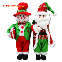 50 16cm High Quality Santa Claus Snowman Standing Doll Christmas Decoration Ornaments Xmas Festival Party Gifts